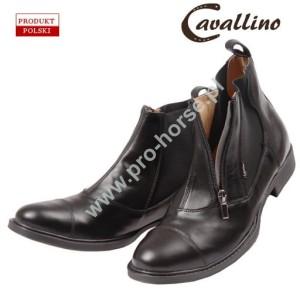 f18ecfa0d5d72 Sztyblety męskie- krótkie buty do jazdy konnej skórzane z zamkiem z przodu  (rozmiary od